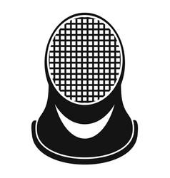 Fencing helmet icon simple style vector