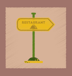 flat shading style icon restaurant sign vector image