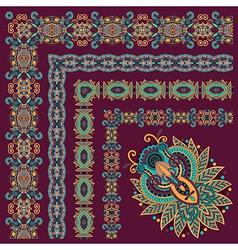 Floral vintage frame design vector