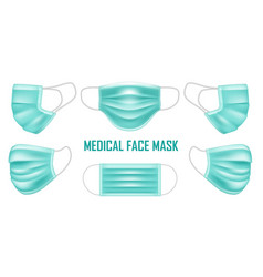 green medical mask for doctor and patient vector image