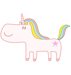 Happy unicorn vector