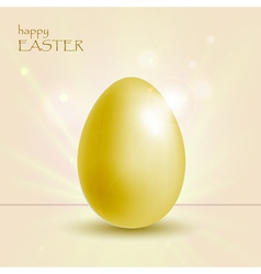 holiday background with easter gold egg vector image