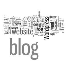 How to create a blog vector