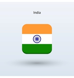 India flag icon vector