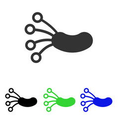 Infection microbe flat icon vector