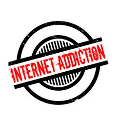 Internet addiction rubber stamp vector