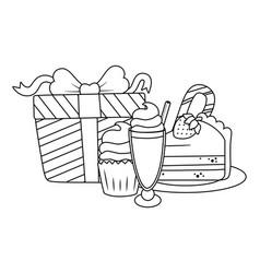 isolated happy birthday surprise design vector image