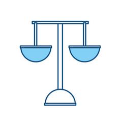 Justice balance symbol vector