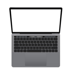 Laptop mockup with blank screen vector