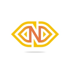 Logo sign and symbol letter N vector