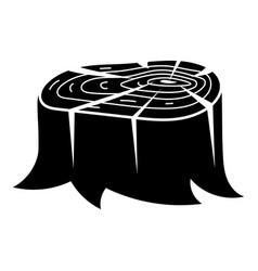 Low stump icon simple style vector