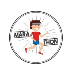 Marathon competition design vector