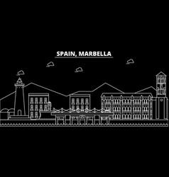 Marbella silhouette skyline spain - marbella vector