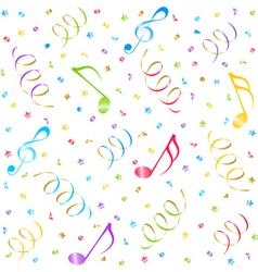 Music seamless background vector