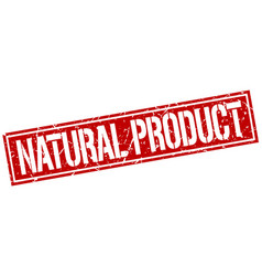 Natural product square grunge stamp vector