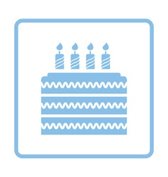 Party cake icon vector image