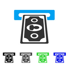 Payment terminal flat icon vector