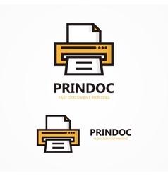 Printer logo vector