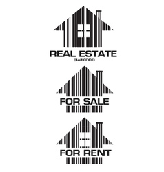 Real Estate barcode houses vector