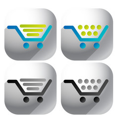 Shopping cart icons editable graphic vector