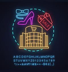 shopping center neon light concept icon vector image