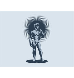 Statue of david or apollo vector
