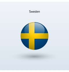 Sweden round flag vector