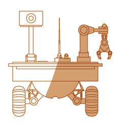 Table top robotic arms vector
