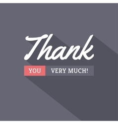 Thank You Modern Card vector