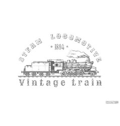 vintage train vector image
