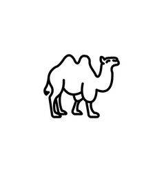 web line icon camel wild animals black on white vector image