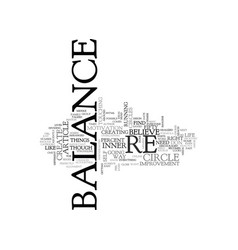What balance looks like for you text word cloud vector