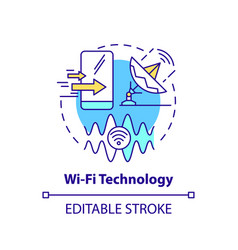 wifi technology concept icon vector image