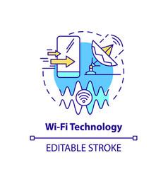 Wifi technology concept icon vector