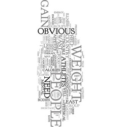 you want to gain weight text word cloud concept vector image