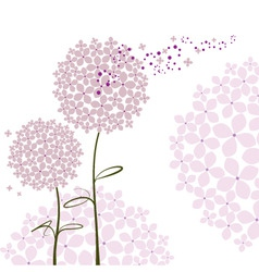 abstract springtime purple hydrangea flower vector image vector image