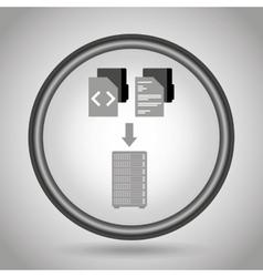 data center design vector image vector image