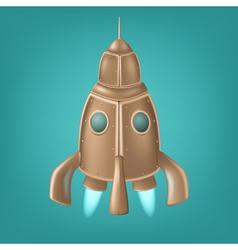 Old bronze rocket vector image