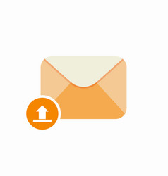 email mail unarchieve upload icon vector image vector image