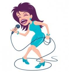 Female pop singer vector