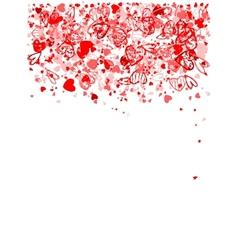 Valentine frame for your design vector image vector image