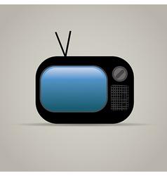 Web icon of retro tv vector image vector image