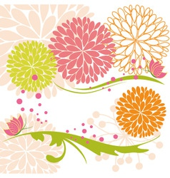 abstract springtime colorful flower and butterfly vector image