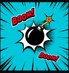 comic style bomb design element for poster vector image