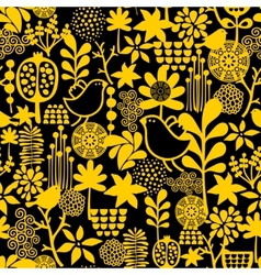 Seamless pattern with sweet birds vector image vector image