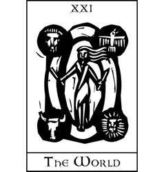 World Tarot Card vector image vector image