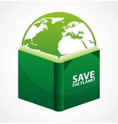 green book vector image