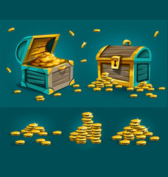 piratic trunks chests vector image vector image