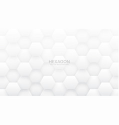 3d hexagon tech abstract white background vector image