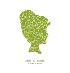 Abstract green natural texture girl vector